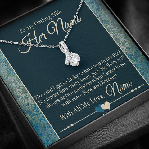 Bella Fields - To My Darling Wife Alluring Heart Necklace and Message Card