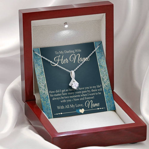 Image of Bella Fields - To My Darling Wife Alluring Heart Necklace and Message Card