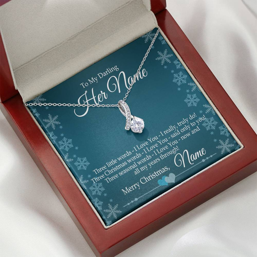 "Bella Fields - ""Three Little Words"" Alluring Beauty Necklace and Message Card"