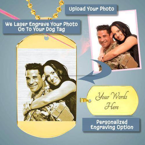 """Timeless Treasures"" Photo Etched Luxury Dog Tag"