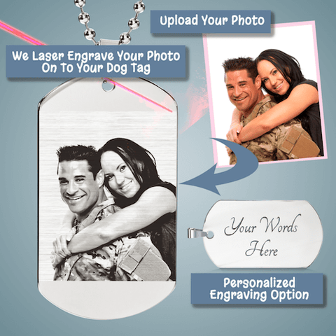 "Image of Bella Fields - ""Timeless Treasures"" Photo Etched Luxury Dog Tag"