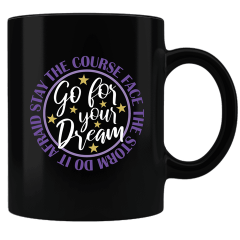 "Image of Bella Fields - ""Go For Your Dream"" Premium Coffee Mug"
