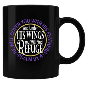 "Bella Fields - ""Under His Wings"" Premium Coffee Mug"