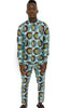 2 Piece African Kente men's suit set