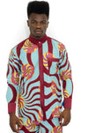 Colorful 2 Piece Set African Print Pants and Shirt