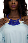 Colorful Maasai Bead 3 tier Bib Necklace