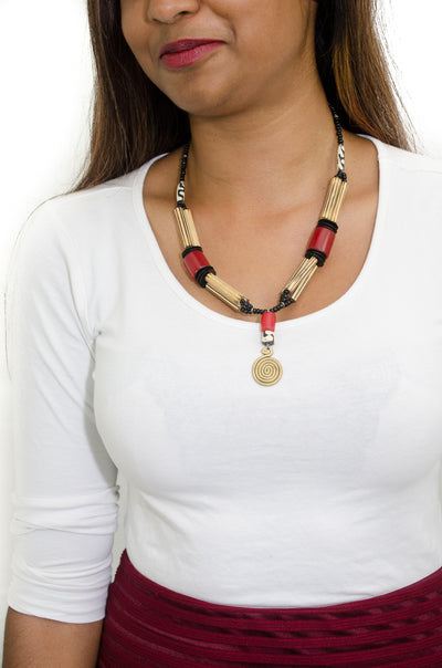 African Bead and Hood Necklace