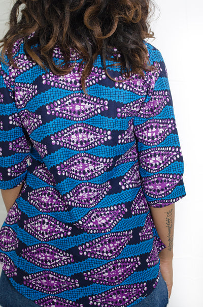 Colorful African wax print Top