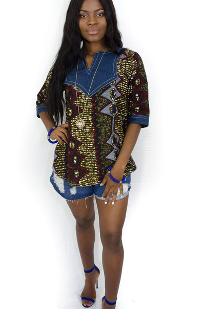 Upendo African Print Blouse