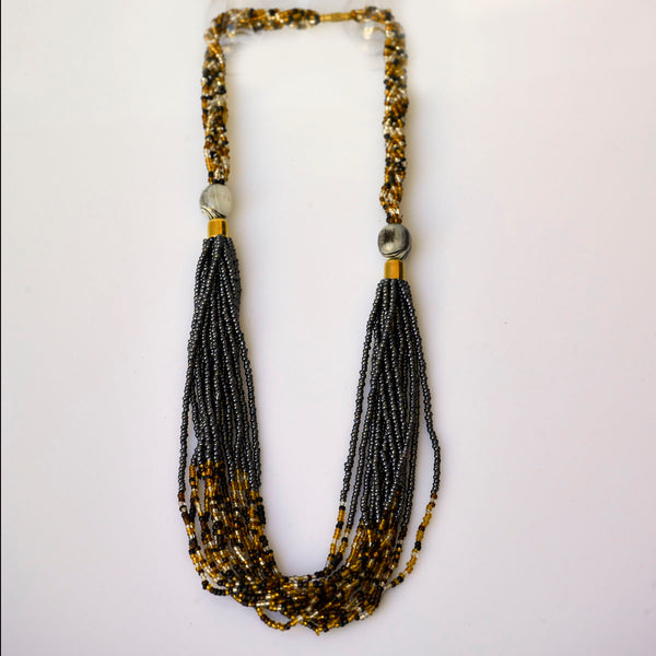 African Beaded Chunky necklace