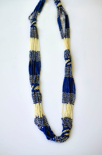 Colorful African Beaded Long Necklace