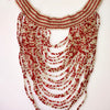 African beaded cascade necklace
