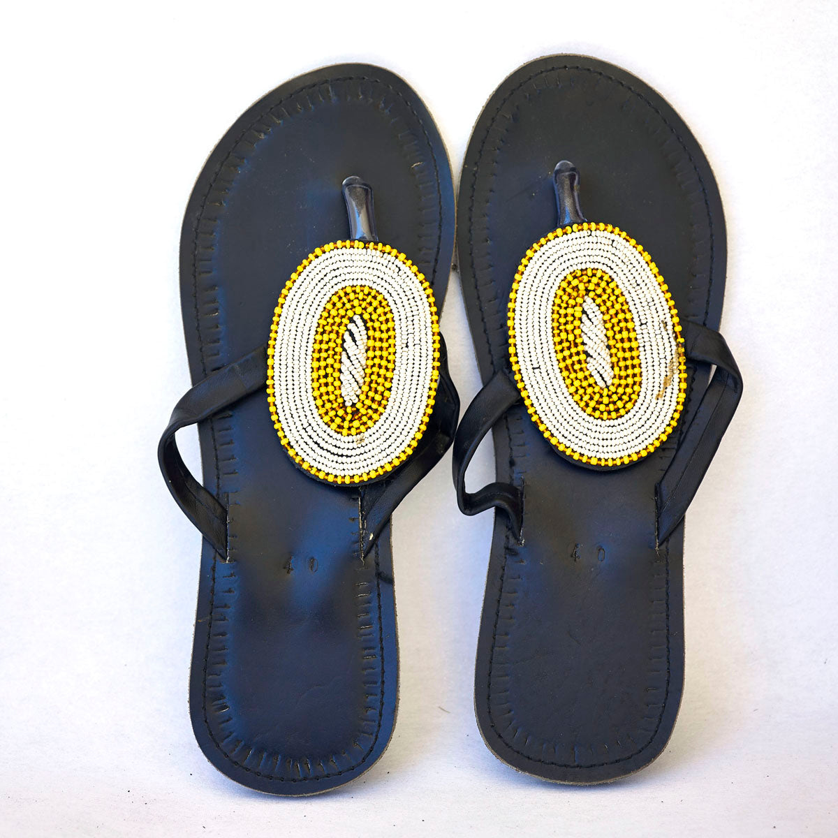 a266422d7863 Maasai Leather African Beads Sandals for Women - Kilimanjaro Krafts