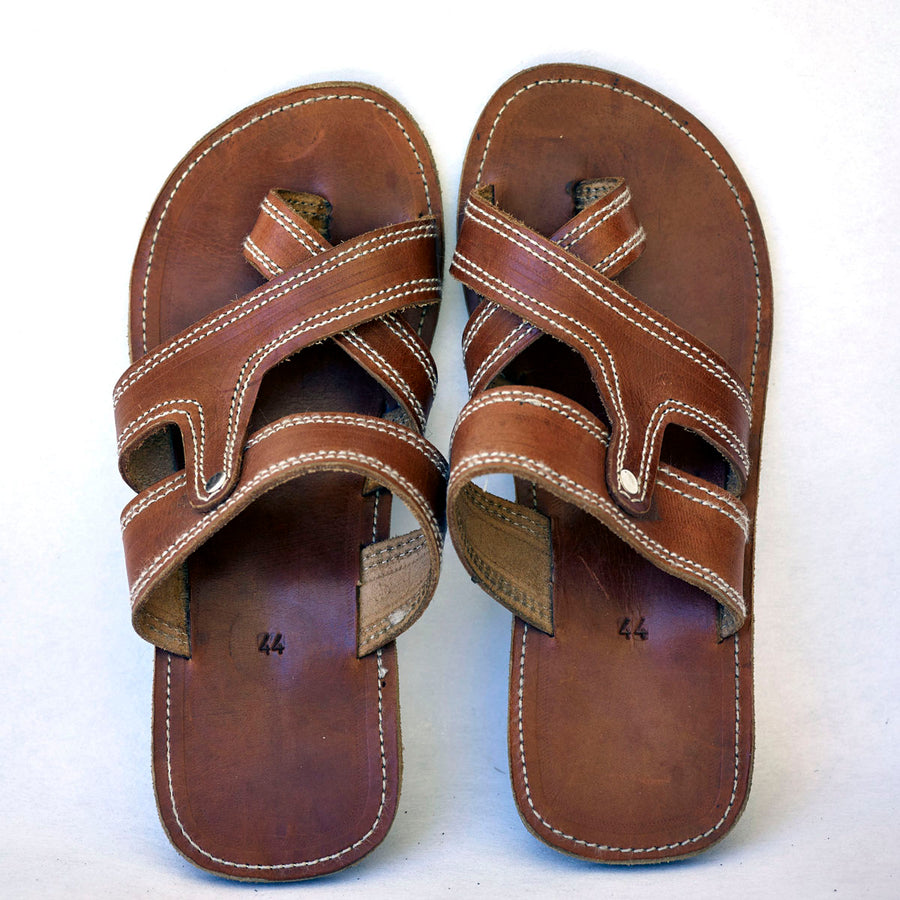 c3b8f418b5d Masai Leather African sandal for men