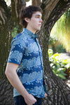 Chinese collar African print shirts for men
