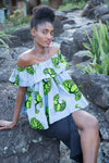 off shoulder African top