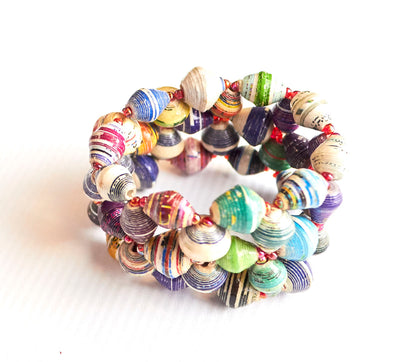 African Beaded Stretch Bracelet