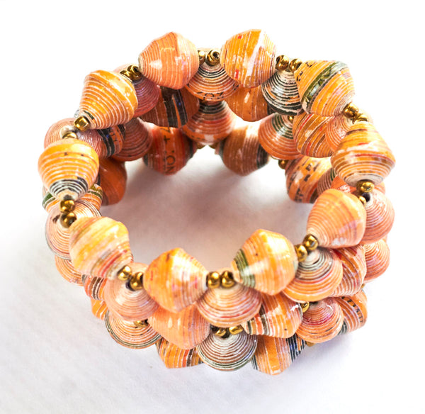 African Recycled Paper Stretch Bracelet