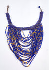 African Beaded Cascade Necklace Medium