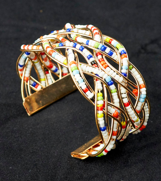 African Beaded Bracelet and bangle (1)