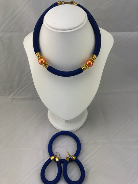 Zawadi African Jewelry Set of Necklace, Earrings and Bracelet)