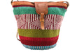 Handcrafted colorful hemp thread knitted shoulder bags