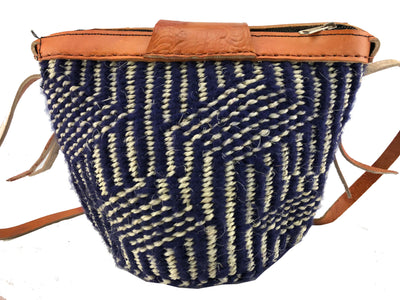 Handcrafted colorful hemp thread knitted shoulder bags (Medium size)