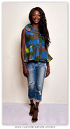 African Sleeveless peplum