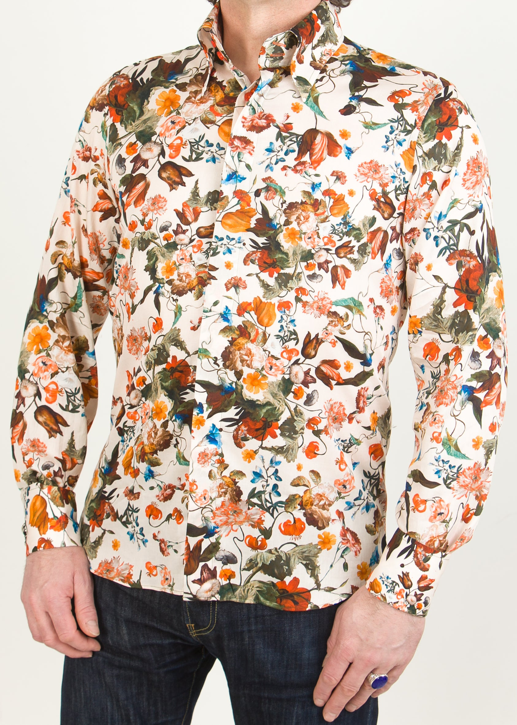Lawrence Print Shirt, White