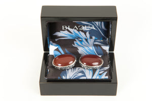 Carnelian Baroque Oval Cufflinks