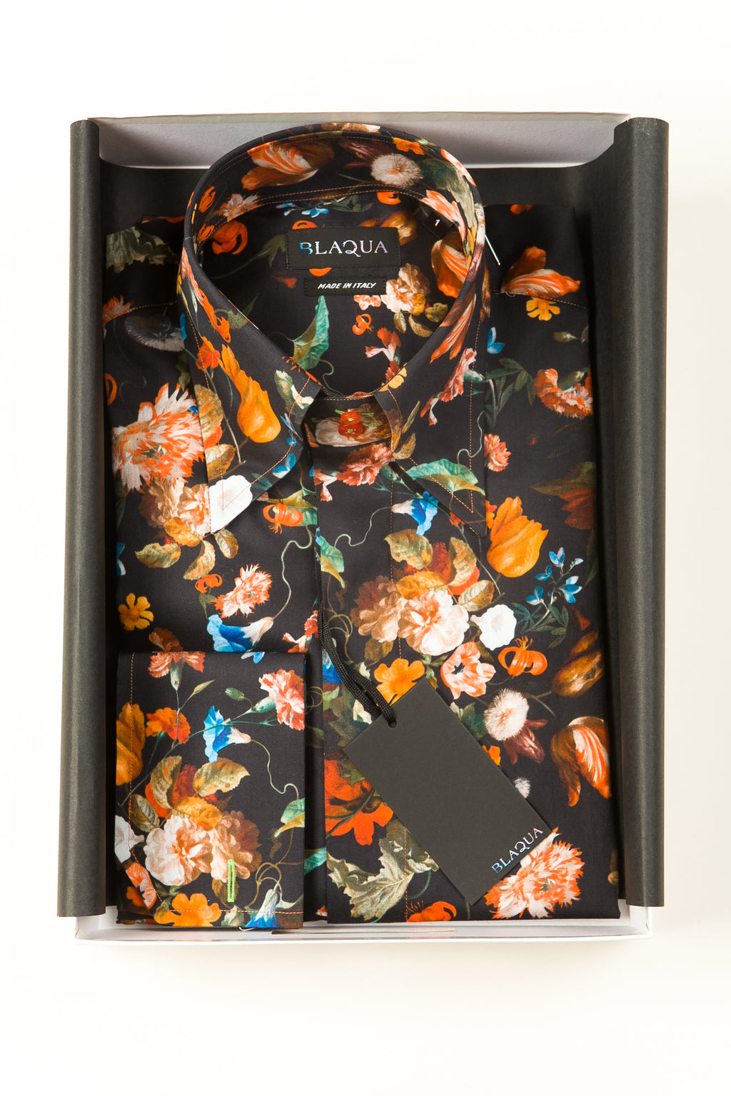 Lawrence Print Shirt, Black