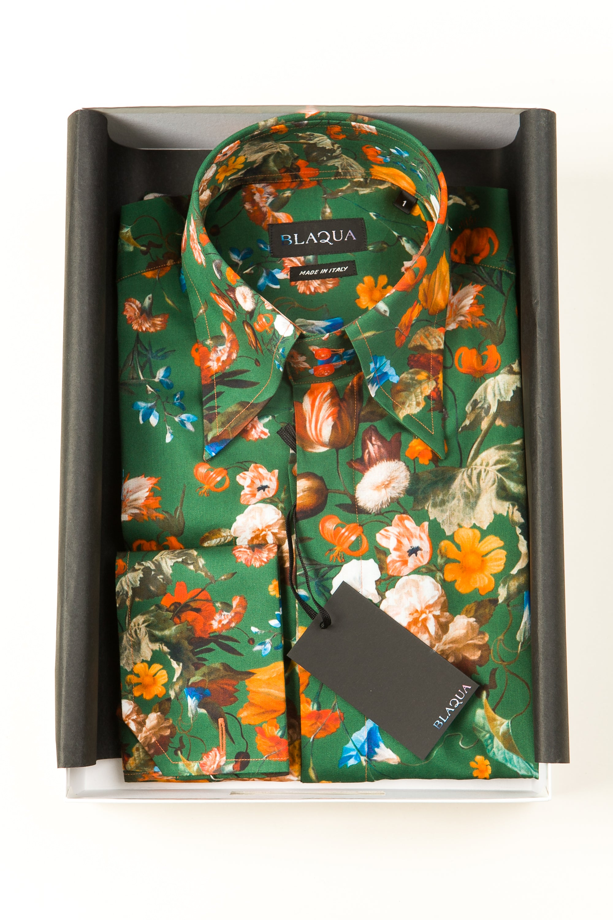 Lawrence Print Shirt, Green