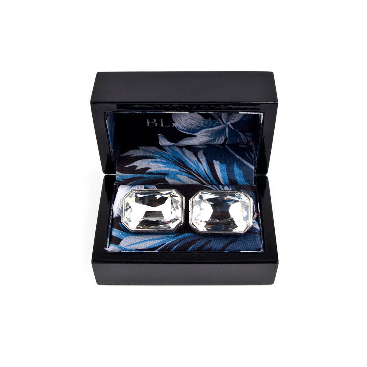 Clear Crystal Greek Keys Cufflinks