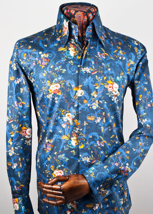 Ellington Print Shirt (blue)