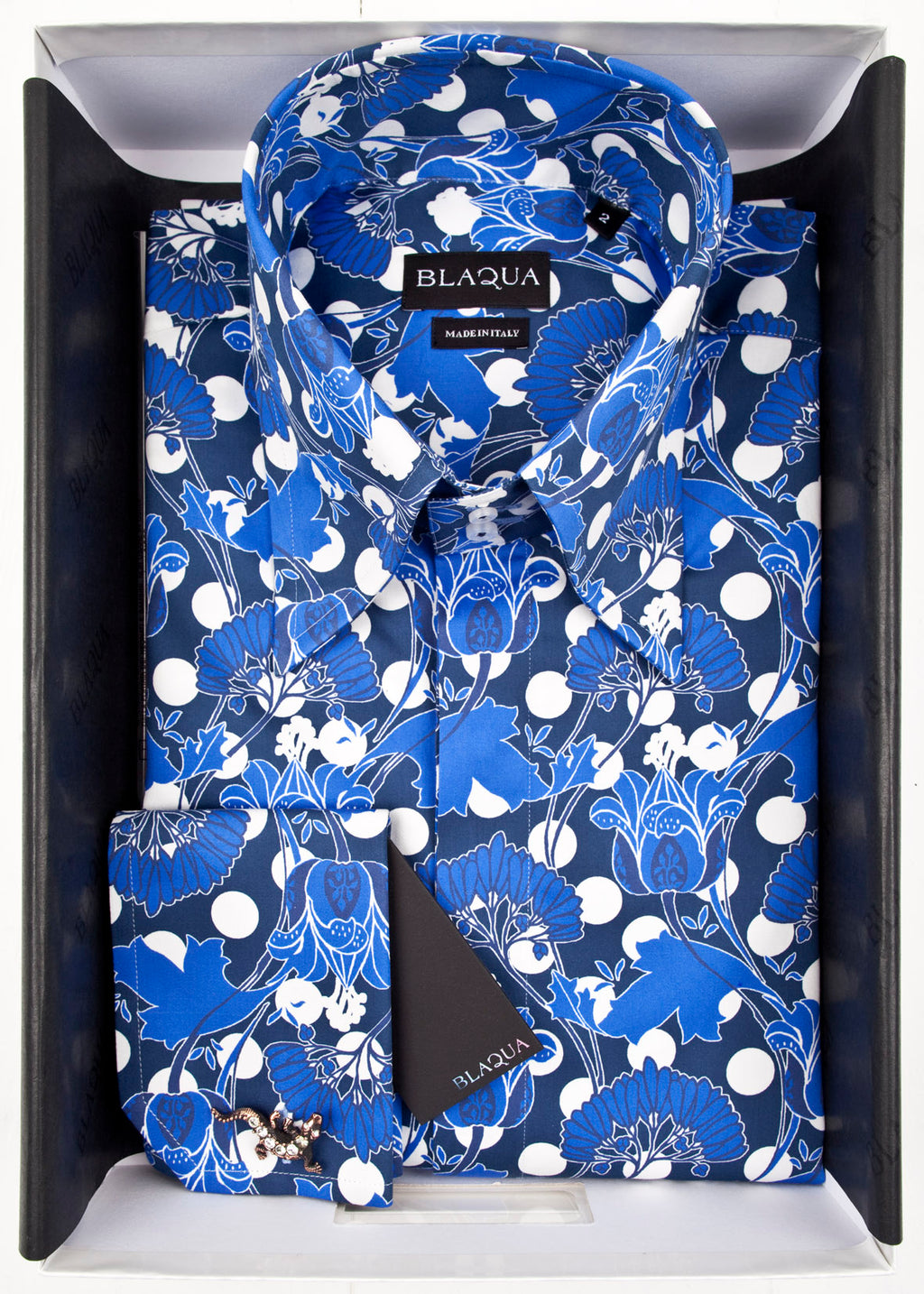 Monk Print Shirt (blue)