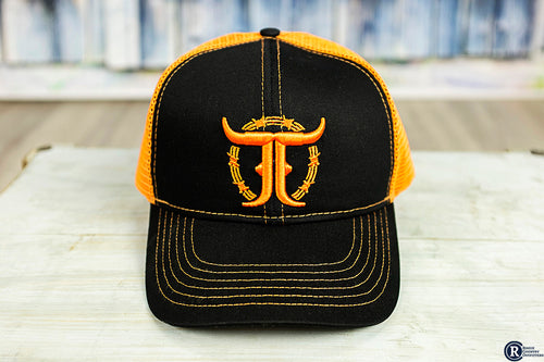 Orange/Black JJ Trucker Cap - Rogue Country Outfitters