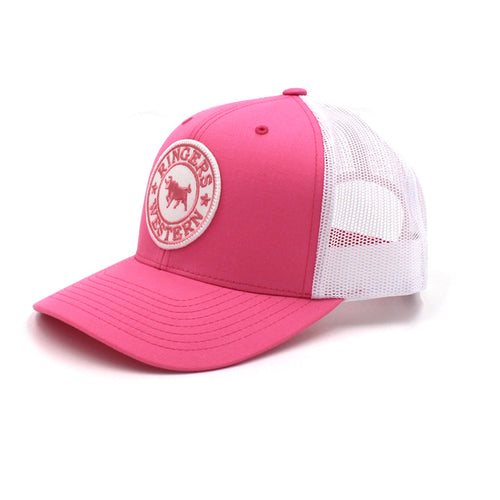 5d67504579d Pink   White Signature Bull Trucker with Pink   White Patch - BK8 Outfitters