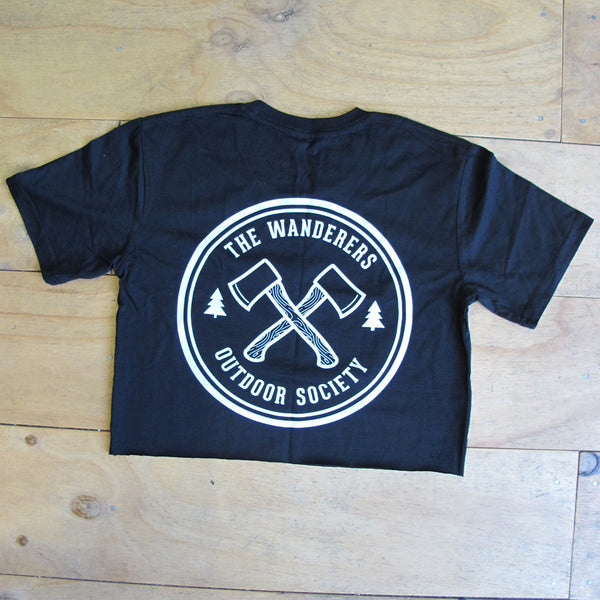 WANDERERS CO. - Outdoor Society Crop Tee - Black