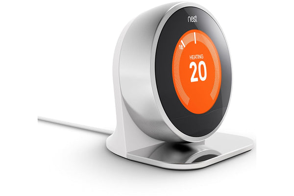NEST Learning Thermostat - 3rd Generation, Silver with Stand
