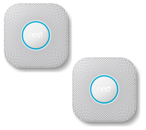 NEST Protect 2nd Generation Smoke and Carbon Monoxide Alarm - Battery operated Bundle Twin Pack