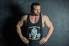 Vintage Muscle Vest Black With Old School Orange Logo