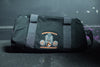 Primitive Gym Duffel Bag Black Featuring Orange Old School Logo