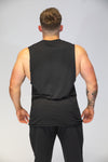Caveman High Neck Vest Black & Red
