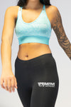 Primitive Cross Back Crop Top Ocean Blue