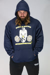 Caveman Pullover Navy Blue Featuring Yellow Logo. Sizes Upto 5XL