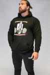 Caveman Pullover Black & Red. Sizes Upto 5XL