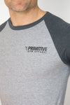 Primitive Gym 3/4 Length T-Shirt Heather/Charcoal