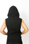 Primitive Gym Ladies Sleeveless Hoodie Black