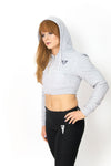 Primitive Gym Cropped Hoodie Grey