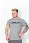 Primitive Gym Stretch T-Shirt Large Logo Heather Grey